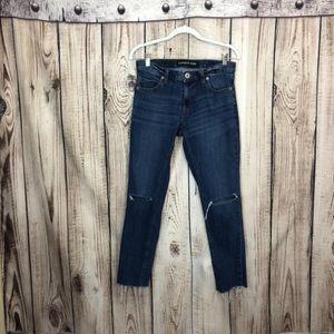 Express Distressed Frayed Hem Skinny Jeans Size 2